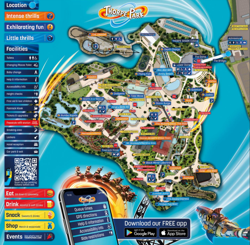 Thorpe Park Map 2021 What S New In The Park I Apt Travel